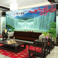 Mural 3d landscape waterfalls tv wall sofa mural wallpaper