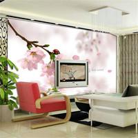 Mural entranceway wallpaper rustic tv background wallpaper peach powder