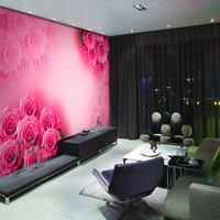 Mural wallpaper tv background wallpaper romantic red rose
