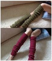 FREE SHIPPING New Arrival fashion design women socks winter twisty knitted kneecap Leg Warmers wholesale