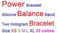 2500pcs DHL Free Shipping Silicone Power Bracelet Band Hand Ring  Energy Power Silicone Balance Hologram Wristband