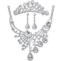 rhinestone the wedding jewelry set wedding dress necklace accessories piece set