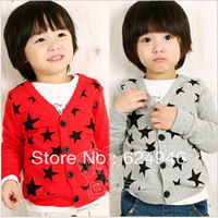 2013 autumn five-pointed star boys clothing baby child casual cardigan wt-0600