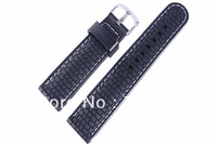 22mm (Buckle 20mm)New High Quality Black+Blue Stitched  Waterproof  rubber Watch band ,speck case.mesh watch straps,deployme