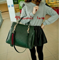 Free shipping 2013 new arrival Korea fashionalbe lozenge single-shoulder bag Oblique cross 2pcs/lot