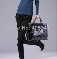 New 2013 European And American Women Crocodile Pattern Fashion Office Messenger Handbags Leather Shoulder Bags