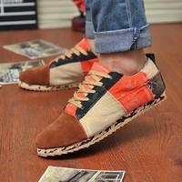 Autumn water wash canvas shoes vintage men's fashion shoes fashion casual shoes