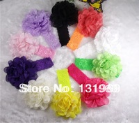 2013 hot sale 10pcs/lot Girls headwear Chiffon Lace Layered Flowers Baby girl craft lace Headbands Hair Bands Hair Accessories