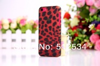 50pcs/lot&Free shipping Newest leopard transparent hard case for iphone 5c