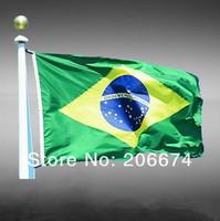 National Flag of Brazil(150*90CM)+free shipping