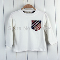 Freeshipping  2013 children  autumn  cotton full t-shirt  cotton fashion boy's t-shirt  3colors 1-5years old kid s autumn cloths