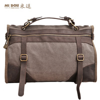 Meters 2013 man bag fashion sports handbag one shoulder leather cross-body canvas big bag travel bag