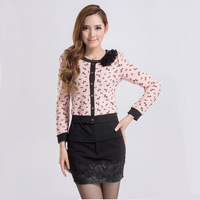 Plus size autumn women's 2013 formal elegant slim female twinset casual short jacket