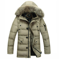 Free shipping new authentic winter-season fashion male models thick warm down jacket and long sections coat cold