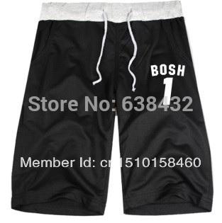 Free shipping 2014 new sale USA basketball B O S H no.1 printed Shorts Cotton Fashion design leisure shots XXS-4XL 8 color(China (Mainland))