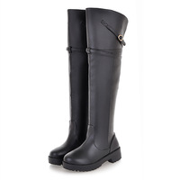 2013 fashion elegant boots elegant over-the-knee buckle boots