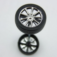 12pcs Toy car wheel diameter 30 mm small production technology diy accessories car tyre model