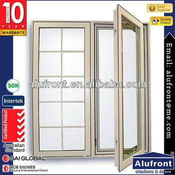 High quality European design aluminum hinge window made in China