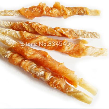100g Special grade a chicken around the leather roll dog snacks/dog premolar stick/dog biting glue hot rave reviews(China (Mainland))