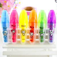 Black korea stationery small fruit flavor neon pen marker pen marker pen n27