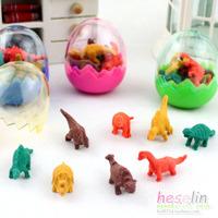 Black korea stationery cartoon multi-colored mini dinosaur egg small eraser d11