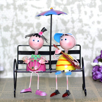 Romantic metal doll a pair of decoration crafts home decoration brief wedding gift