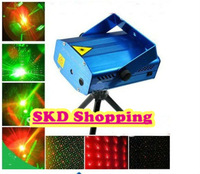 Guaranteed 100% New Blue 1Pcs Mini RG Projector Holographic Laser Star Stage DJ Disco Party Lighting +Wholesale Free Shipping