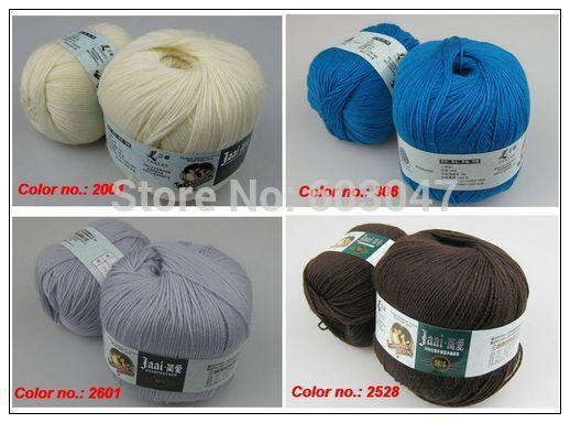 100% Wool yarn for hand knitting Sunny Jaai 5812 Fashion Eco crocheting yarn for sweater scarf 500g per lot(China (Mainland))