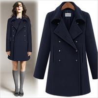 2012 thickening woolen fashion normic overcoat medium-long thickening slim overcoat female