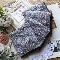 Primark women's 100% trigonometric cotton leopard print panties high waist plus size sexy mm summer thin