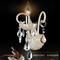 Free Shipping Bedroom Glass wall lamp modern single-head bedside lamp k9 crystal wall mounted light