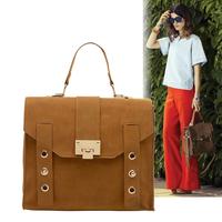 Free shipping!Smilyan high quality PU leather fashion vintage women's briefcase messenger bag shoulder bag handbags brown gift