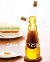 Kitchen supplies fashion eco-friendly glass oiler pot of vinegar free shipping 370ml