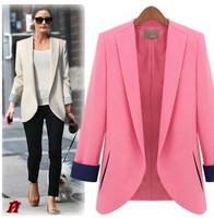 2013 spring and autumn female blazer elegant fashion women's suit outerwear plus size clothing shoulder pads