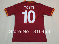 BEST Thailand  quality  2013-2014  Roma home  Totti 10   soccer jerseys  football   sports shirt  Free shipping