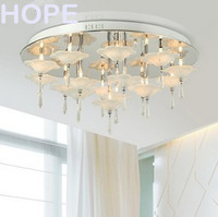 modern simple style  flower petal  crystal ceiling light  bed room ceiling lamp