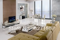 Most Popular Modern Dining Set Made in Copy Marble Top and Stainless Steel, Luxury Home Furniture