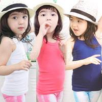 2013 summer brief girls clothing baby child spaghetti strap vest tx-0773