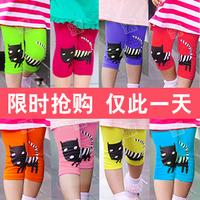 2013 summer cat girls clothing baby child 5 capris pants legging kz-1978