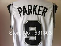 Free Shipping Wholesale & Retail the San Antonio #9 Tony Parker basketball jersey Mesh