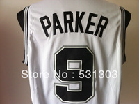 Free Shipping Wholesale & Retail the San Antonio #9 Tony Parker basketball jersey Mesh