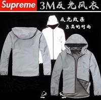 Free shipping Supreme3M reflective wave ski-wear, waterproof male money trench coat jacket