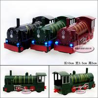 Locomotive railway engine three-color alloy train model boys toys model free air mail