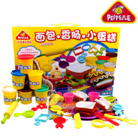 Dough Bread sausage small cake hot dog color clay plasticine eco-friendly puzzle toy educational toy