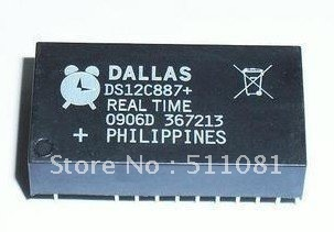 Free Shipping 5 PCS DS12C887+ DIP DS12C887 Real Time Clock(China (Mainland))