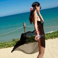 women's Sexy Chiffon Sarong personality fashion Bikini Cover-ups Criss cross Saress Bikini Wrap Beach Dress