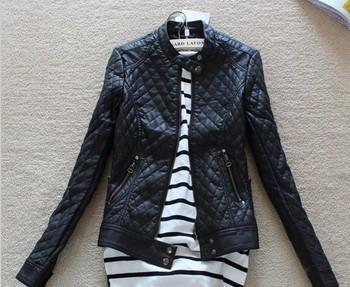Бесплатная доставка 2014 большой бренд женской моды Тонкий мотоцикла кожаные куртки ...