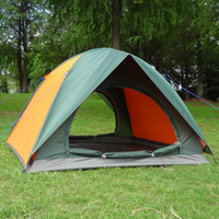 tent 3 person Outdoor 3 - 4 camping tent double layer tent rainproof sunscreen tent suit for 3 person