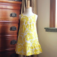 2013 Carter's Summer Newborn Baby Girl Yellow Flower Jumper Dress Infant Cotton Sundresses