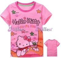 2013 kids Hello kitty baby girls t shirts /kids t shirt high quality 100% cotton free shipping 6pcs/lot